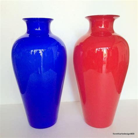 vasi di vetro grandi due grandi vasi vetro incamiciato salviati murano 1 100