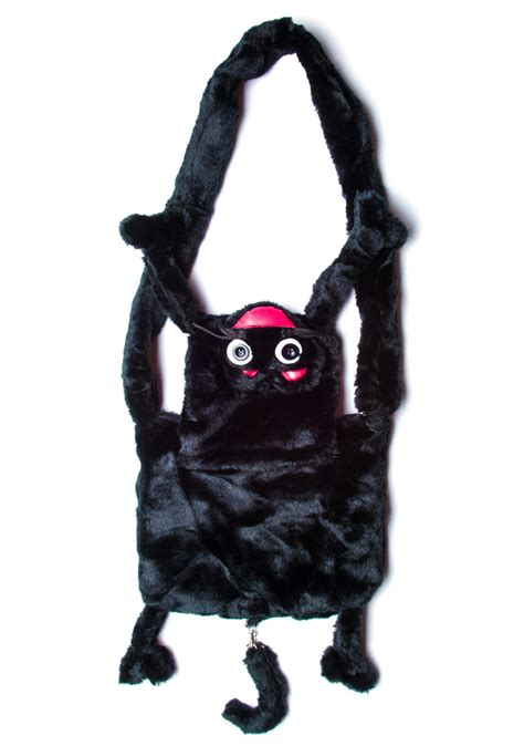 Bunny Backpack In Black hell bunny who let the black cat out fur bag dolls kill