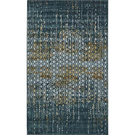 teal area rug 5 x 8 unique loom mirage teal 5 ft x 8 ft area rug 3130928