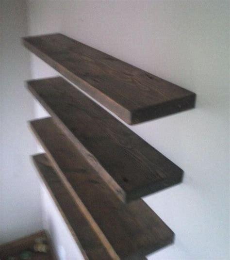 40 Inch Bookshelf Four 40 Inch Floating Shelf Reclaimed Pine Wood From