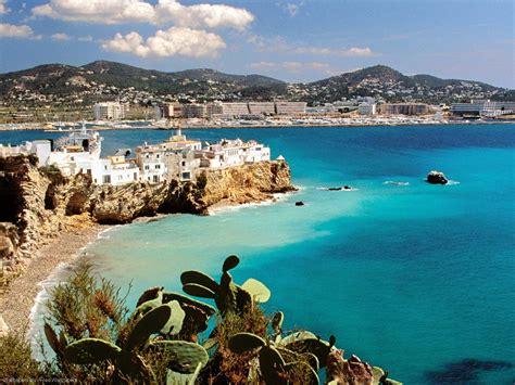 spanish mediterranean ibiza beach wallpaper