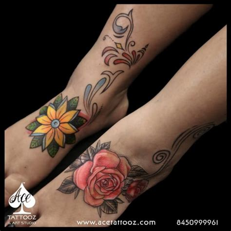 thigh cover up tattoos unique flower designs for best studio