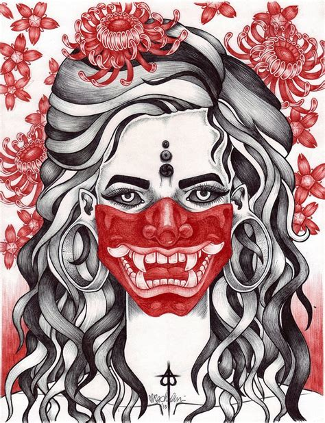 red hannya mask tattoo designs best 25 hannya mask ideas on oni