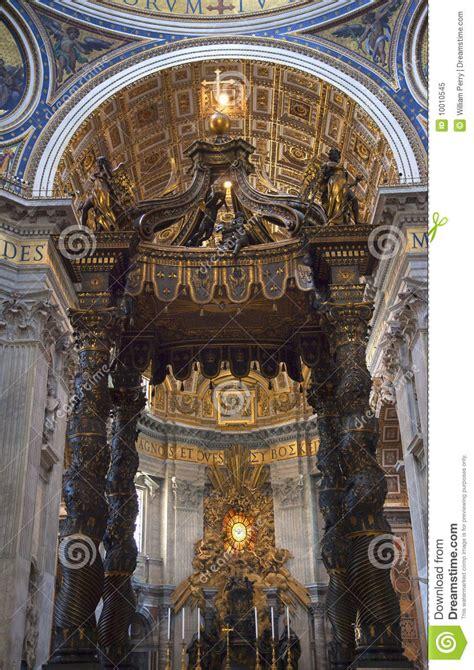 baldacchino by bernini vatican inside bernini s baldacchino rome italy royalty