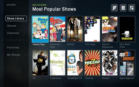 tv shows boxee media portal for your television