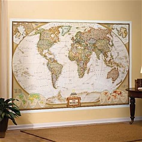 world map national geographic 110x76 wall mural current ebay