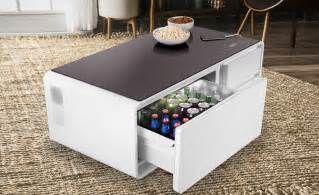coffee table with cooler the sobro smart coffee table has a built in fridge and