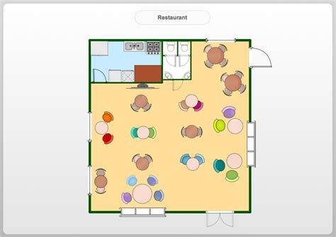 Floor Plan Drawing Software For Mac by Restaurant Floor Plans Software Design Your Restaurant