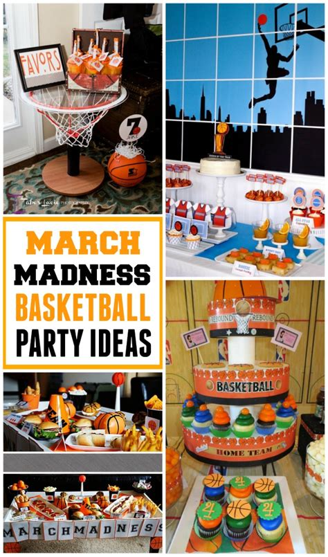party themes in march get ready for march madness with basketball party ideas