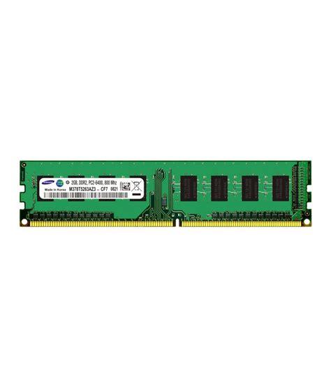 desktop ddr2 ram samsung desktop ddr2 sdram 2 gb 800 mhz buy samsung