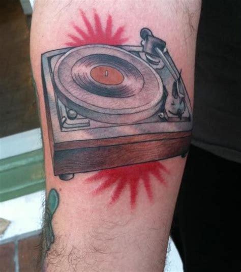 vinyl record tattoo record player vinyl ink