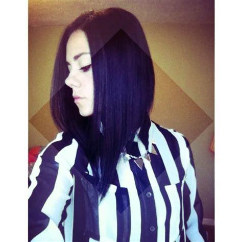 dramatic aline cut dramatic long a line bob hair pinterest short hairstyle 2013
