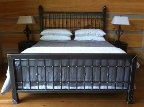 Handmade Metal Beds - crafted iron king size bed by desiron custom metal