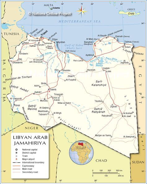 libya map with cities political map of libya 1200 pixel nations project