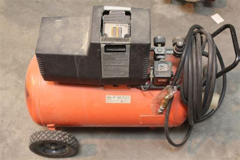 devilbiss tradesman portable air compressor property room