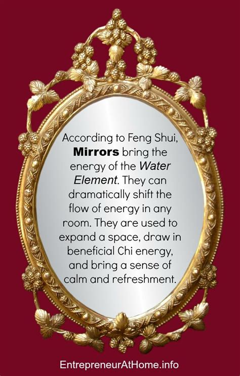 In Feng Shui Mirrors Bring The Water Element In And Can