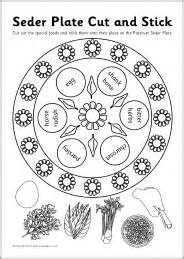 seder plate symbols template seder plate cut and stick activity sb3278