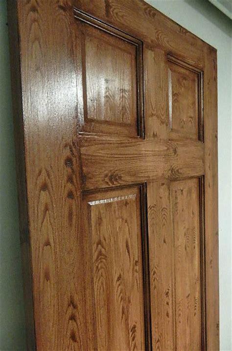 faux doors faux wood grain finish