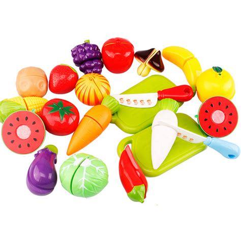 Buah Dan Sayur Potong19 Pcs mainan anak miniatur buah dan sayur 20 pcs multi color