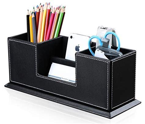 schreibtisch leder kingfom office supplies desk organizer pu leather storage