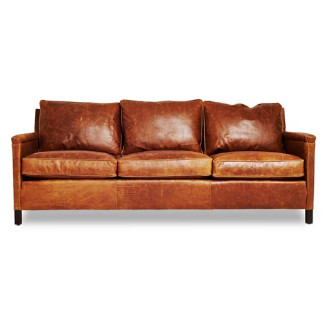 the heston gives an edge to the classic leather sofa