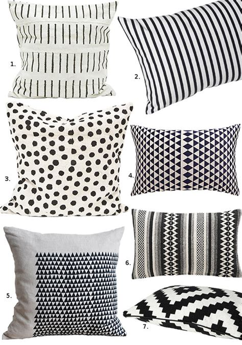 black and white cusions black white pillows design sponge