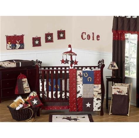 cowboy crib bedding set west cowboy 9pc crib bedding collection