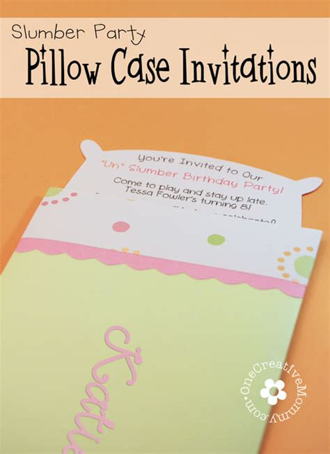 pillow case un slumber party invitations slumber party