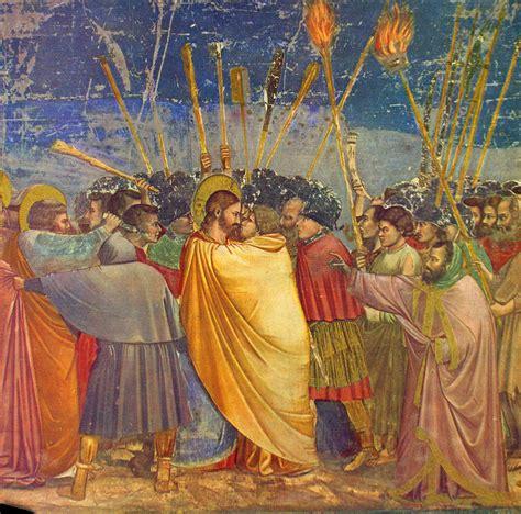 duccio betrayal of christ story giotto judas kiss painting newhairstylesformen2014 com