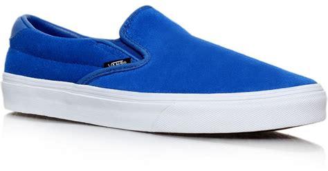 Sepatu Slip On Wedges Suede 02 vans suede slip on 59 in blue for lyst