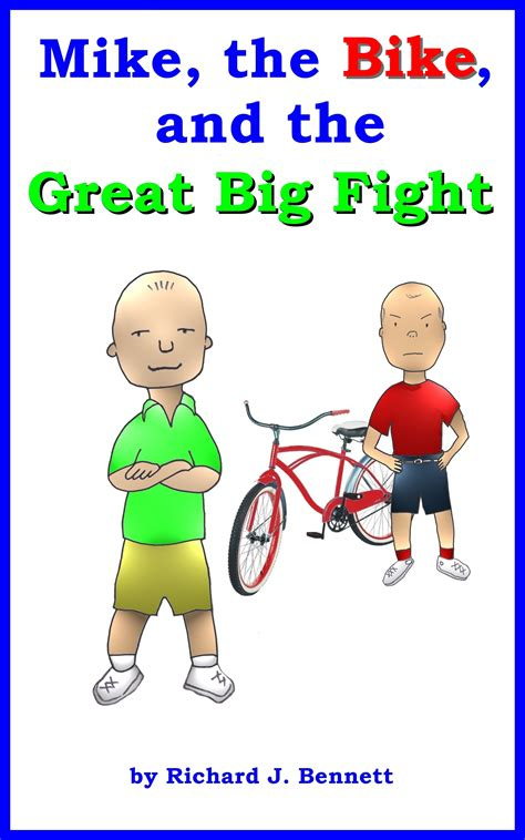 Book Mike The Bike 12x12cm mike the bike and the great big fight richard j