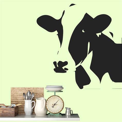 cow wall stickers cow portrait wall sticker animal wall
