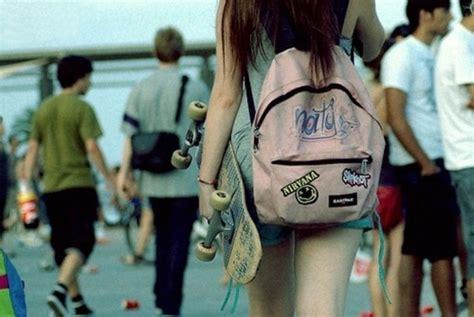 Skateboard Chairs bag girl skater skateboard backpack rucksack eastpak