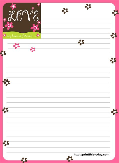 letter writing paper stationery paper printable about www imgkid