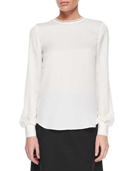 sleeve white blouse chevron blouse