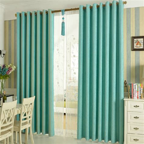 striped teal curtains custom teal chenille print striped curtains blackout