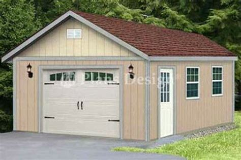 classic gable roof car garage shed plans design