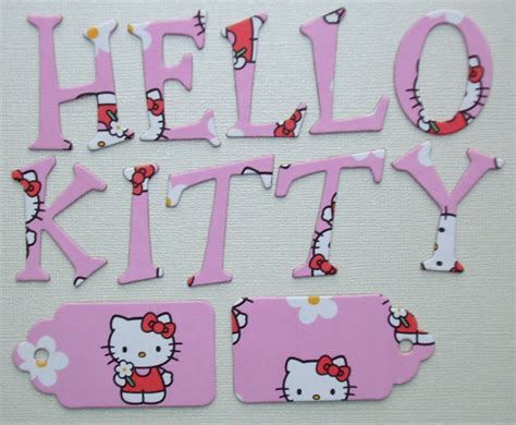 printable hello kitty letters 6 best images of hello kitty printable letters free
