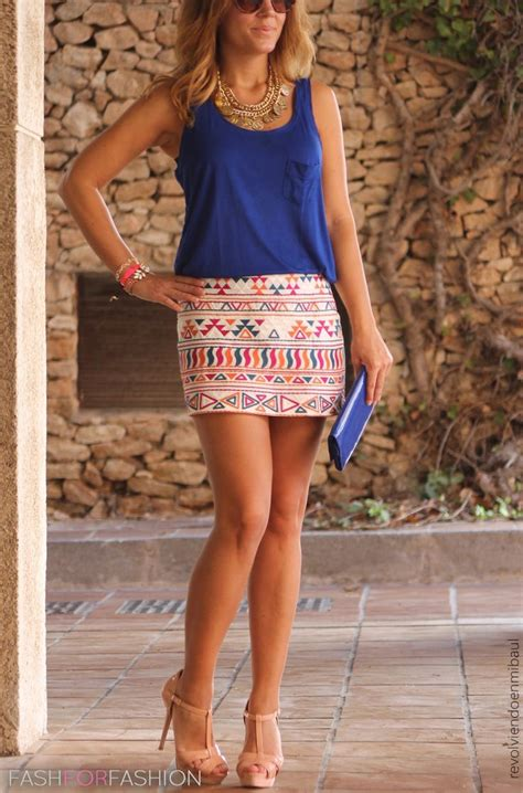 tribal patterned mini skirt love the skirt the look pinterest detail clothes