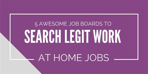 5 awesome boards to search legitimate work at home