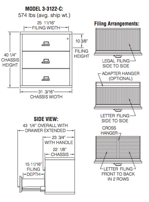 file drawer interior dimensions fireking 3 3122 c three drawer 31 wide lateral file
