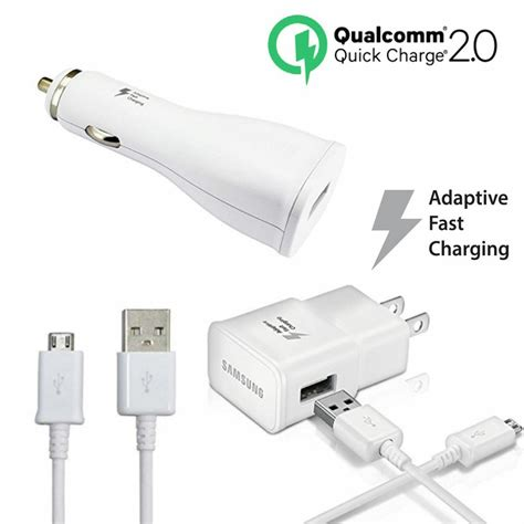 samsung fast charger charge 2 0 18w adaptive fast charger qc 2 0 for samsung galaxy s6 note 4 ebay