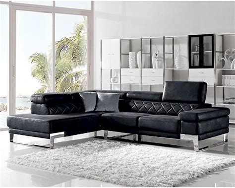 Black Fabric Sectional Sofa Modern Black Fabric Sectional Sofa 44l6054