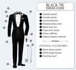 Men s black tie dress code bows n ties com