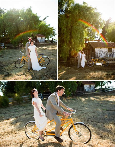 Wedding On Bicycle by Real Wedding Tracey Ross Vintage Bicycle Wedding