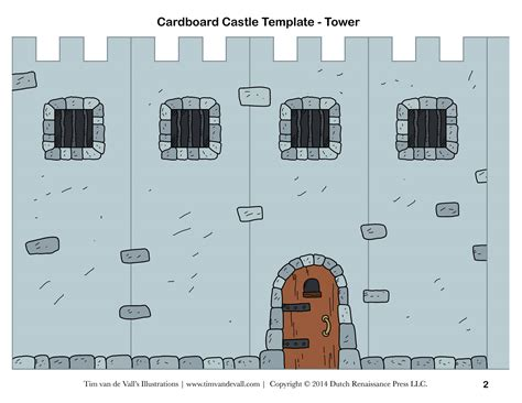 printable castle template free diy cardboard castle for build your own