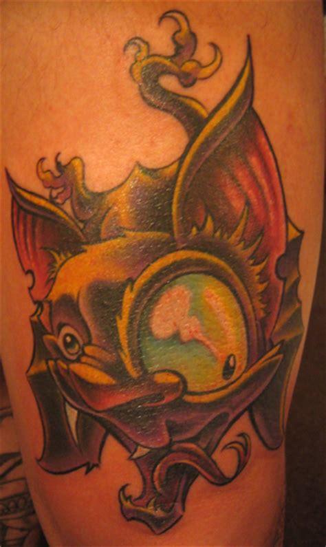 tattoo cartoon new school bat tattoos and designs page 202