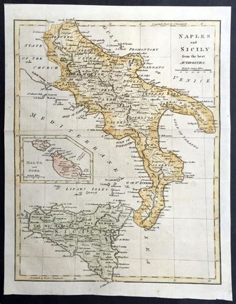 cities of southern italy classic reprint books 1799 cary moores antique map of southern italy