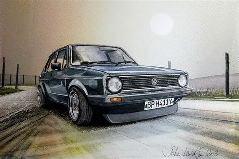 volkswagen painting photos volkswagen vw golf ii gti automobile painting