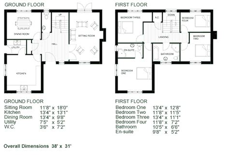 Bedroom Floor Plans With Dimensions 1472 Square Feet 3 Two Storey House Plan With Dimensions